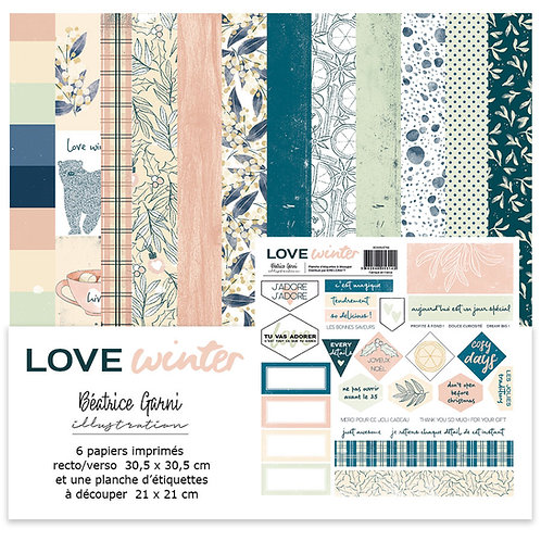 Collection papiers BEATRICE GARNI Love Winter