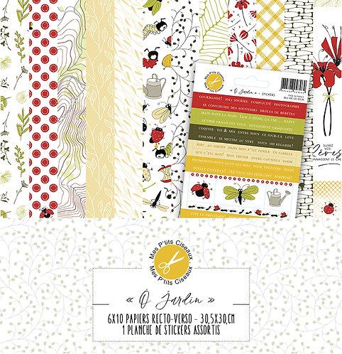 Collection papiers O Jardin-Mes Ptits Ciseaux