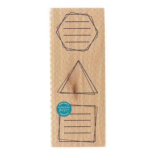 Tampon bois Formes à messages Florilèges Design Un jour spécial