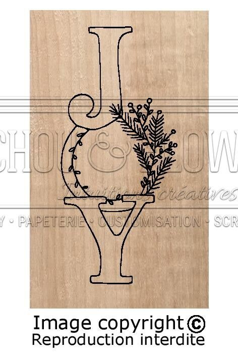 Tampon bois Joy Chou & Flowers collection Instants magiques