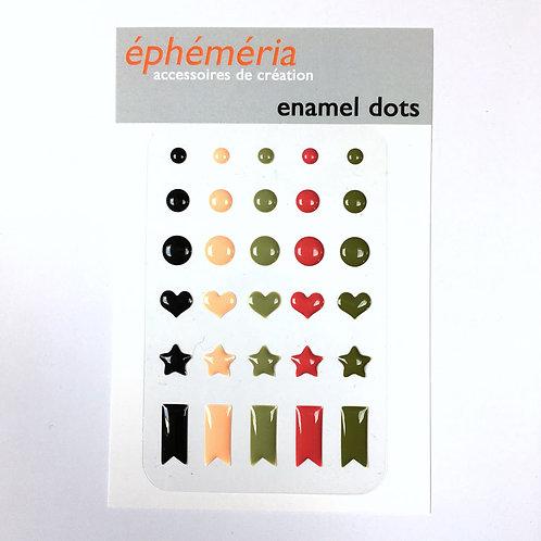 Enamels dots Plume Ephéméria