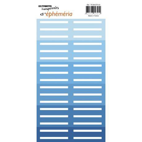 Z'étiquettes transparentes Dégradé Bleu