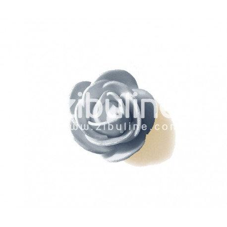 Fleur en mousse gris