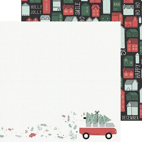 Feuille imprimée Combi Christmas Peppermint Kisses - Kaisercraft