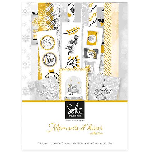 Collection papiers SOKAI Moments d'hiver