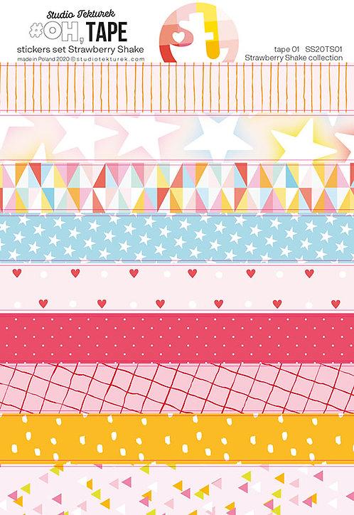 Set de stickers tape Strawberry Shake STUDIO TEKTUREK