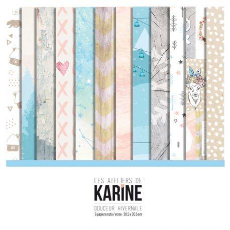 Collection papiers LES ATELIERS DE KARINE- Douceur Hivernale