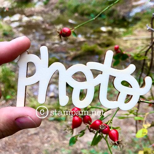 Mot en bois Photo Stampam