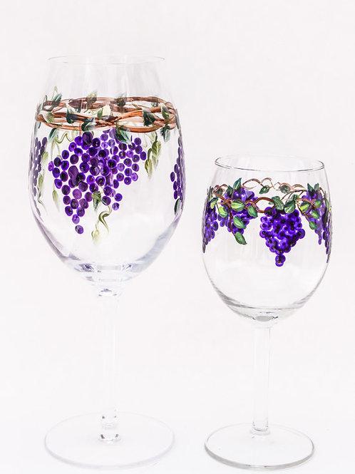 Grape Wine Goblets or Glasses