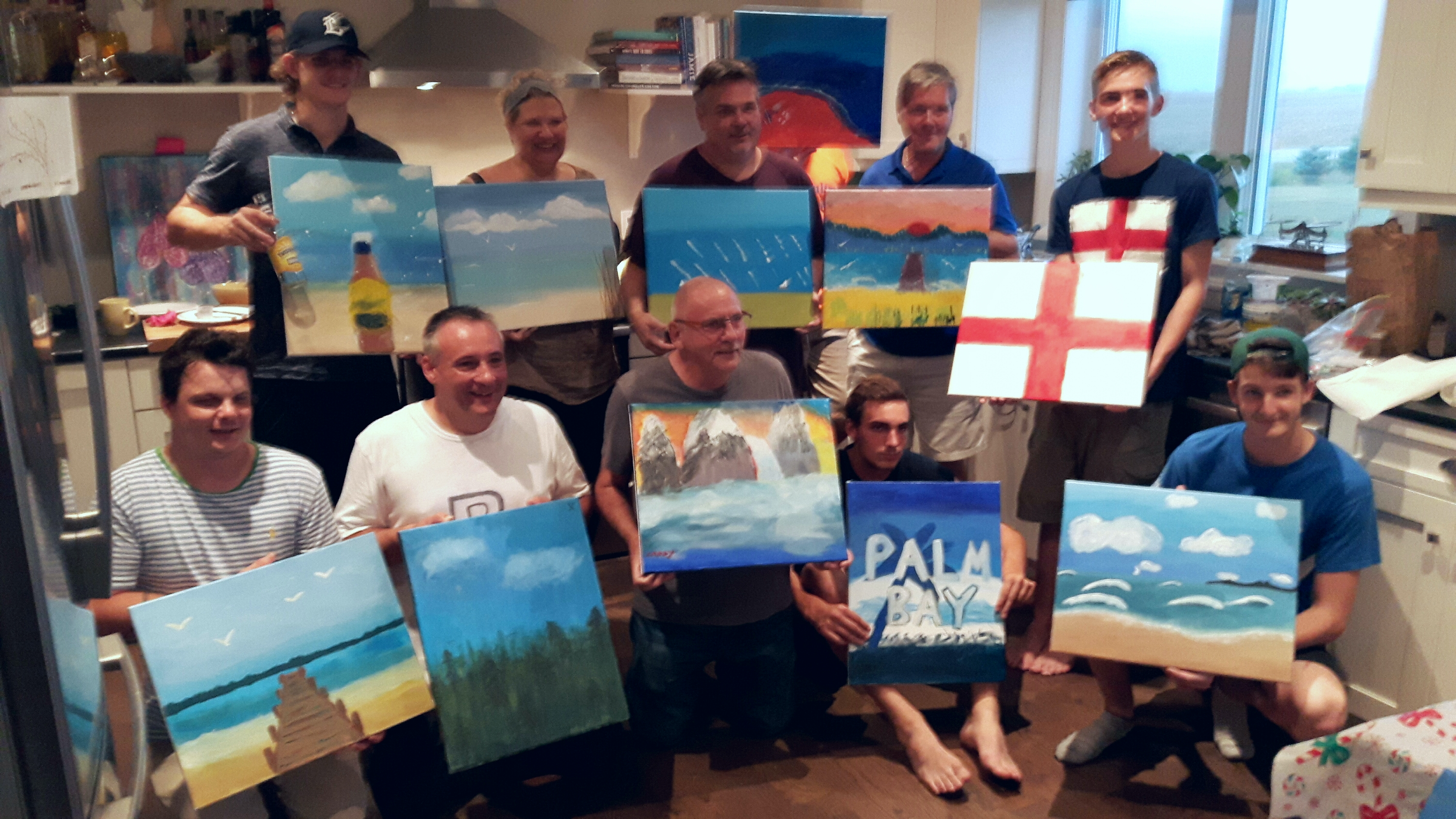 men's painting party