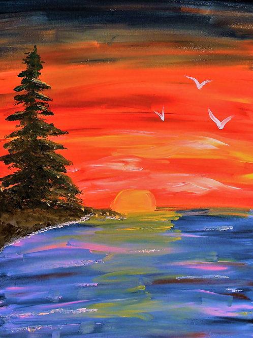 Sunset, Lakeside