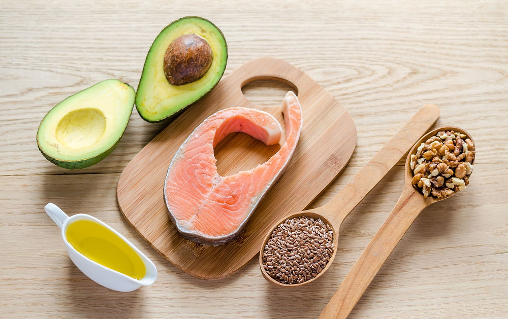 Healthy fats (avocado, salmon, nuts, seed and olive oil)