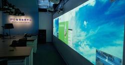 Projection Video wall w/ PCT sensor