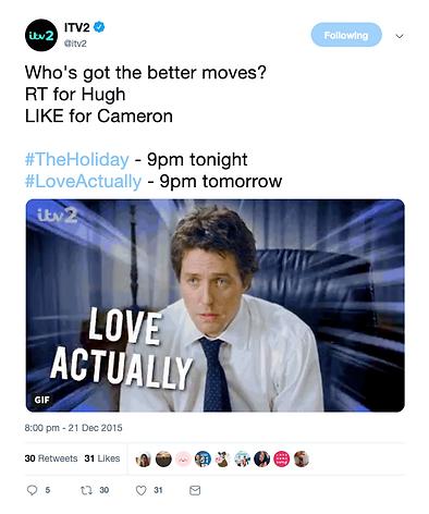 ITV2 social media