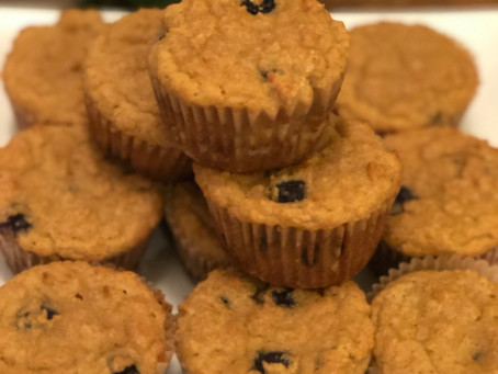 Deliciosas Cupcakes de Mirtilos com Tiger Nut e Farinha de Coco - Gluten-Free/Paleo/Keto/Low-Carb Di
