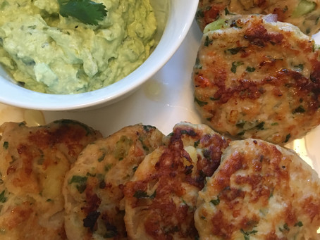 "Nutrient-Dense Chicken ""Nuggets"" Prepared with Sweet Potatoes, Veggies and Fresh Herbs"