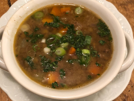 Delicious and Nutrient Dense Lentils Soup with Ground Meat and Veggies - Feeding Beneficial Gut Bact