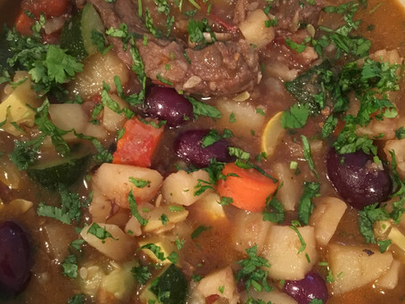 Lamb Shoulder Chops Stew with Vegetables and Fresh Herbs - Nutrient-Dense Paleo Dish