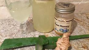 Gengibre e Aloe Vera - Acalme Inflamaçāo e Problemas Gastrointestinais de Maneira Natural e Nutritiv