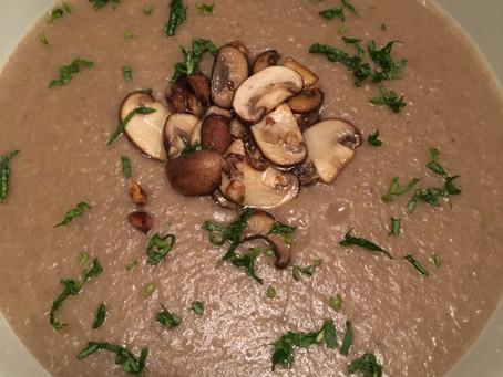 Creme de Cogumelos Portobello e Batatas - Denso em Nutrientes (Excelente Fonte de Potassio, Vitamina