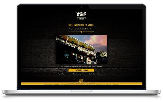 Southern Comfort Blacklist website microsite