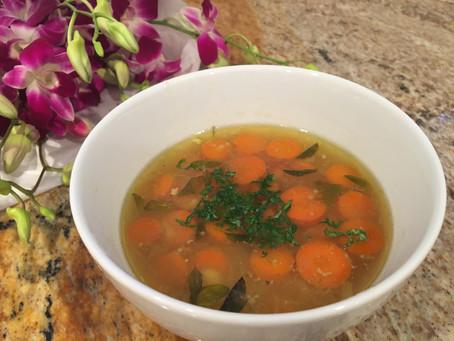 Nourishing Chicken Soup with Sweet Potato