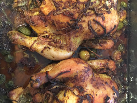 Delicious Roasted Chicken with Onions and Olives