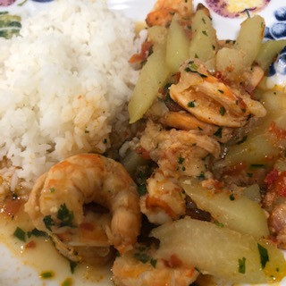 Delicious Shrimp Stew with Chayote Squash