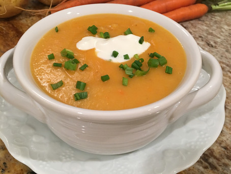 Hearty Carrots, Potatoes and Chicken Stock Soup - Nutrient-dense, Probiotic and Prebiotic Meal
