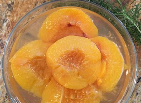 Simple and Delicious Poached Peaches - Sugar/Gluten/Dairy-Free - Paleo-AIP