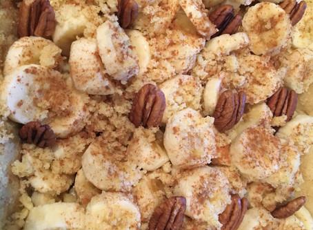 Torta de Banana Deliciosa e Fácil de Fazer, Gluten e Açúcar - Free