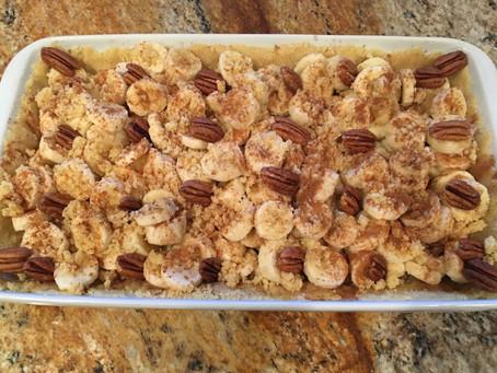 Delicious Almond Flour Banana Pie, Gluten & Sugar Free