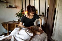 massage abhyanga L'odonate Lège cap ferret
