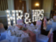 Mr & Miss light up letters