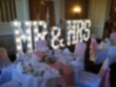 Mr & Miss light up letters