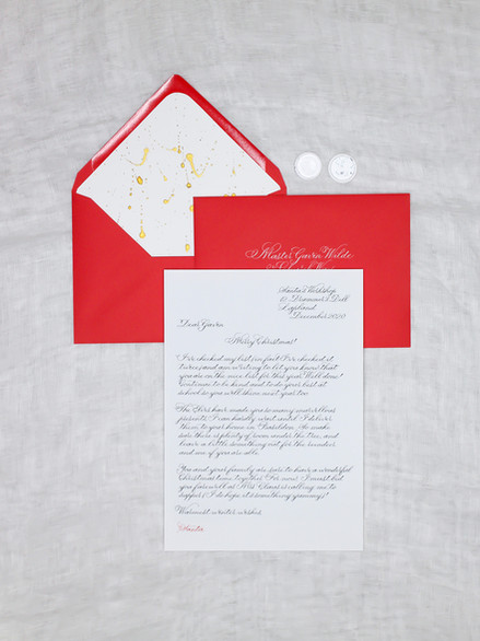 A Letter from Santa with Calligraphy
