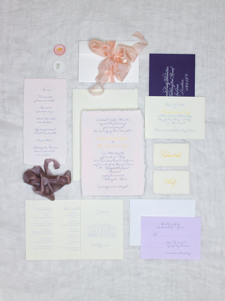Wedding Suite with Calligraphy