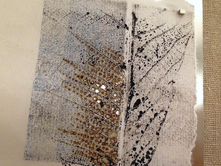 original artwork by Mauro De Giorgi, made with sumi, rice paper and multiple layers