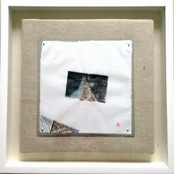 Blue leaves-craft-minimal-skeleton-contemporary art