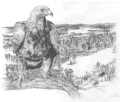 Kotka (tatuointipiirros) / Eagle (tattoo drawing)