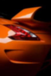 Rear end bright orange porsche
