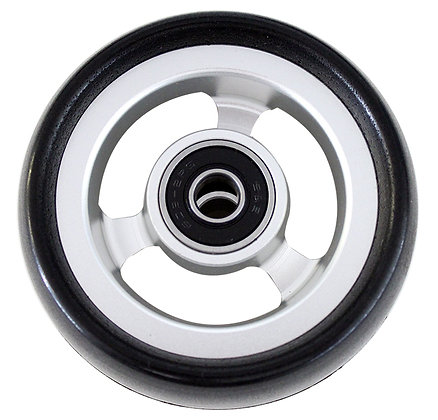 "3"" x 1 1/2"" Caster Wheels With 5/16'' (608-2RS) Bearings and Black Tire (Pair) Side View"