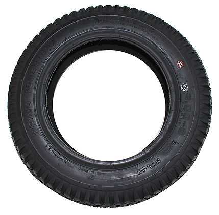 "14"" x 3"" (3.00-8) Black Pneumatic Tire With Powertrax Tread (Primo) Side View"