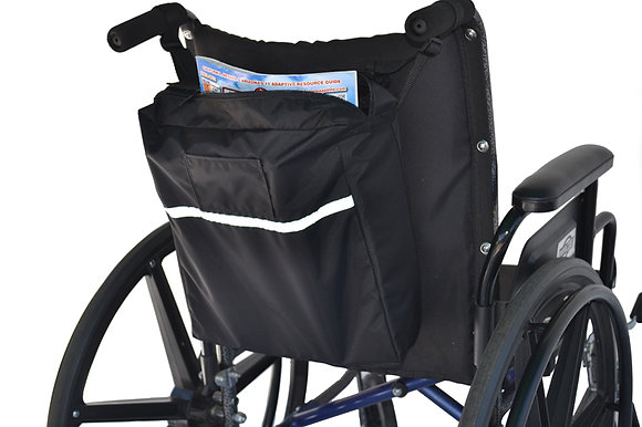 Standard Seat Back Bag for Wheelchairs, Mobility Scooters and Power Chairs(Diestco) Back Profile View