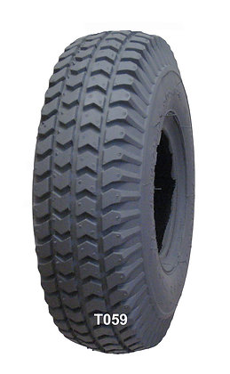 """10"""" x 3"""" (3.00-4, 260 x 85) Pneumatic Tire With Power Trax Tread C248 Front Tread View"""