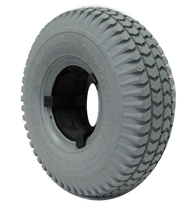 """10"""" x 3"""" (3.00-4)(260x85) Foam-Filled Tire with C248 Powertrax Tread (Primo) Side View"""