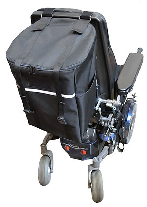 X-Large Seat Back Bag for Wheelchairs, Mobility Scooters and Power Chairs(Diestco) Rear View