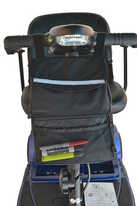 Deluxe Tiller Bag for Mobility Scooters Front View in Use