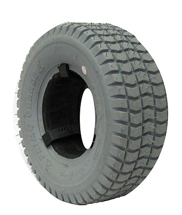 """8-1/2"""" x 3-1/4"""" (9 x 3.50-4) Foam-Filled Tire with Knobby Tread C203 (Primo) Side View"""