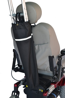 Crutch Holder for Mobility Scooters and Power Chairs Back View